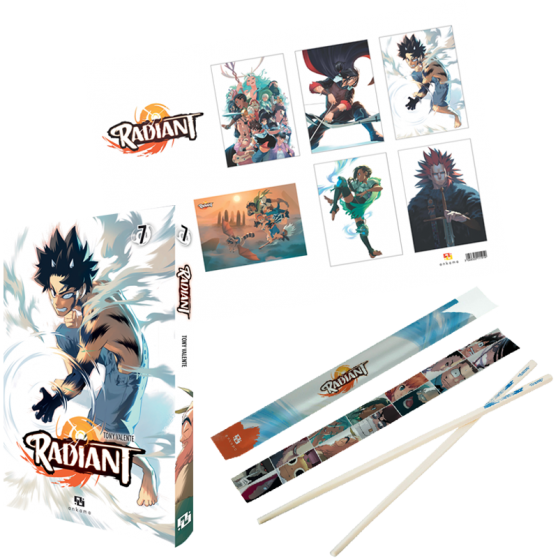 Pack Radiant : T. 7 + baguettes + posters