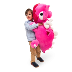Peluche Dragoune rose XL